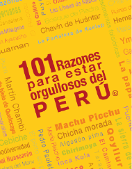 101 Razones para estar orgullosos del Perú  en PerúQuiosco